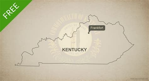 kentucky free map free vector map of kentucky outline one stop map