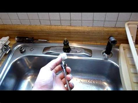 youtube moen kitchen faucet repair how to repair moen single handle faucet pt 1 youtube