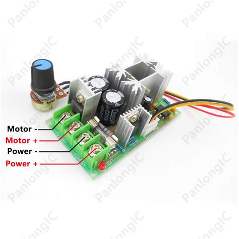 Dc9 60v 10a Pwm Dc Motor Speed Controller Cw Ccw Reversible Pu 2017 6v 60v 20a pulse width modulator pwm dc motor speed