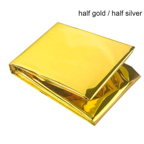 Emergency Blanket Gold Selimut Pencegah Hepotermia cing portable emergency blanket aid survival rescue outdoor hiking kits ebay