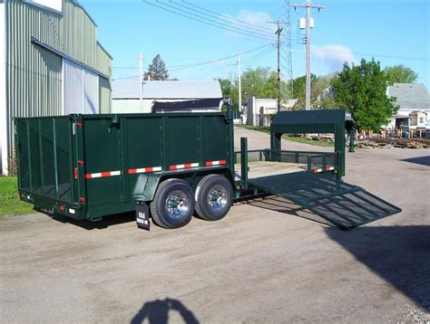 dump bed trailer enclosed trailer with dump bed lawnsite