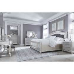Silver Bedroom Sets Ashley Furniture Coralayne Panel Bedroom Set In Silver