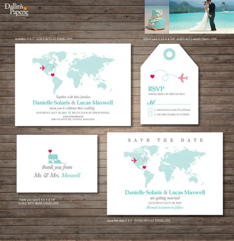 destination wedding invitation printables wedding
