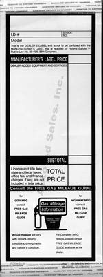 Dealer Addendum Sticker And Vehicle Info Sticker Dealer Addendum Template