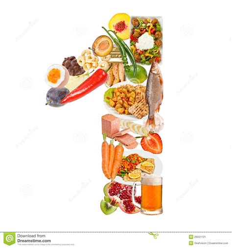 what is food made of number 1 made of food stock image image 26501131