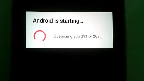 android optimizing app อาการ android is starting optimizing app