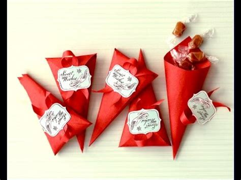 Homewarming Gift ideas for valentine s day favor cones easy to do gift