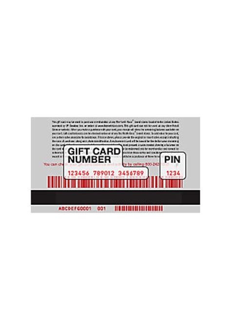 Pin Number On A Gift Card - the north face check gift card balance