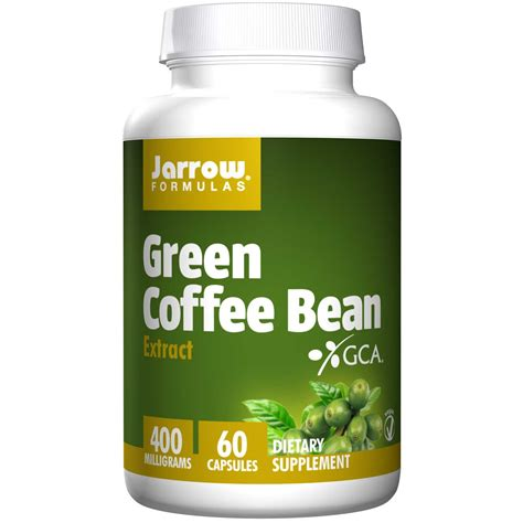 Green Coffee Bean Extract jarrow formulas green coffee bean extract 400 mg 60