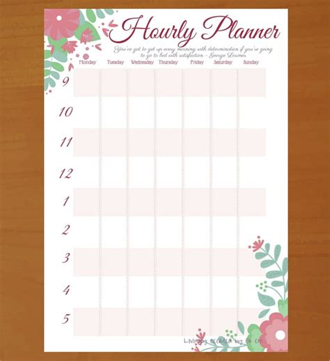 Hourly Calendar Template Printable 6 Hourly Planner Templates Free Sle Exle Format