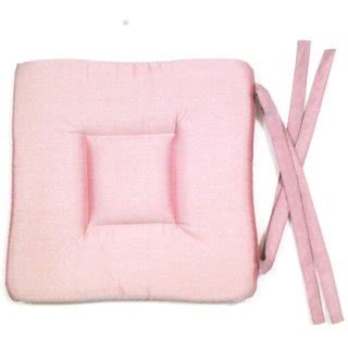 pink kitchen chair cushions chair pad with four loops pink