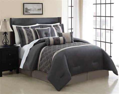 bedding queen 7 piece queen renee embroidered comforter set