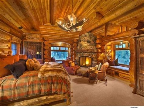 cabin bedrooms cozy log cabin bedroom with fireplace make mine rustic