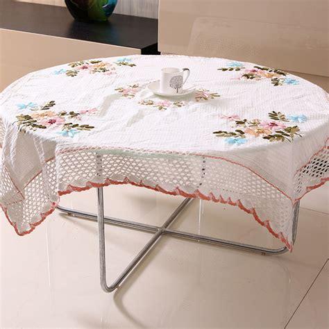 Handmade Table Cloth - handmade ribbon embroidery table cloth
