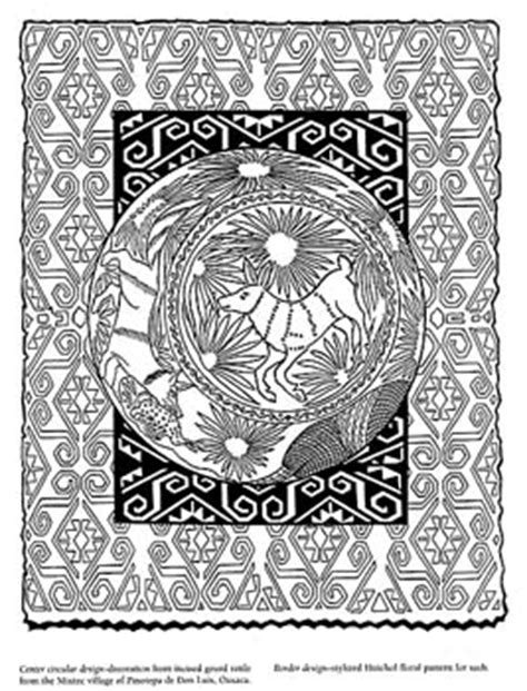 mexican folk art colouring pages