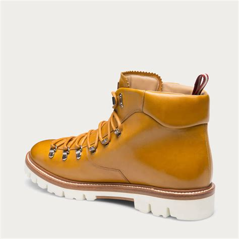 Boots Bally Made In Switzerland bally jc hiker s leather ankle boot in mustard in