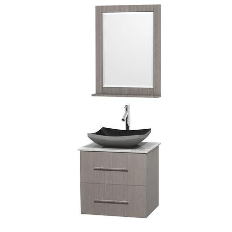 Bathroom Vanities Vessel Sinks Sets 24 Quot Centra Single Bathroom Vanity Set For Vessel Sink By Wyndham Collection Gray Oak