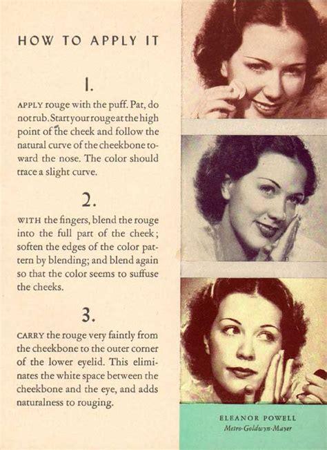 original 1940s hair tutorials uk 1930s make up application techniques glamourdaze