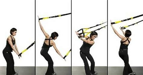 trx golf swing rotation stretch using the trx suspension trainer trx