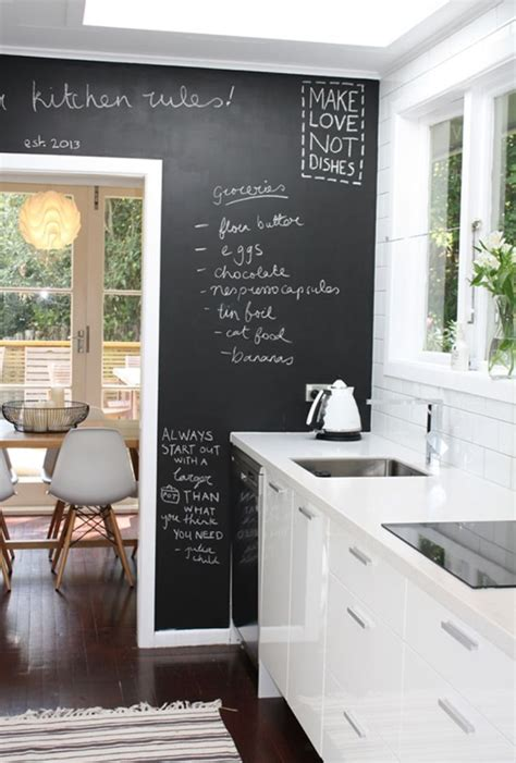 wall ideas for kitchens 25 best ideas about kitchen chalkboard walls on pinterest
