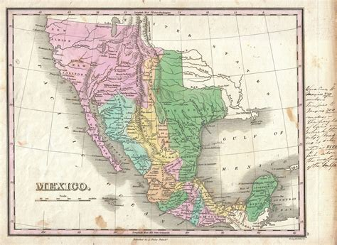 map of mexico and texas file 1827 finley map of mexico california and texas geographicus mexico finely 1827 jpg
