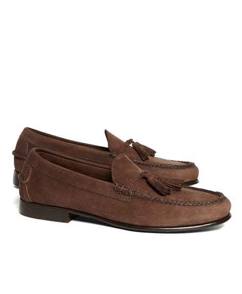 brothers loafers brothers unconstructed tassel loafers in brown for