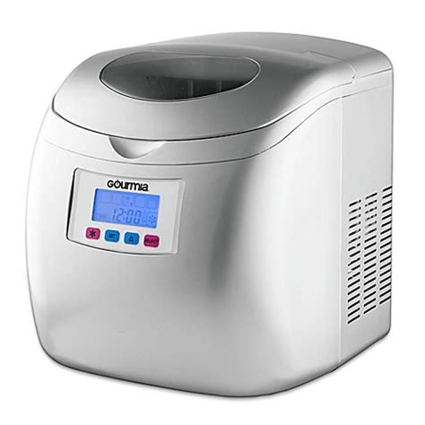 bed bath and beyond ice maker buy gourmia compact portable electric ice maker in chrome