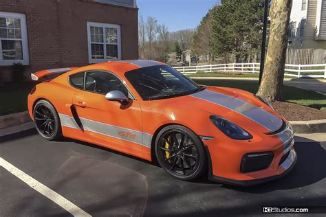 porsche cayman orange spice it up porsche 981 cayman gt4 decals ki studios