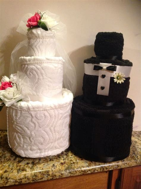 Bridal Shower Idea Towel Wedding Cake by 98 Best Images About Wedding Towel Cakes On