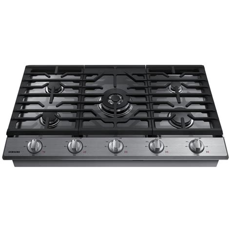 top gas cooktop samsung 36 in gas cooktop in stainless steel with 5