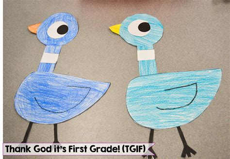 we pigeon mo willems author study tgif thank