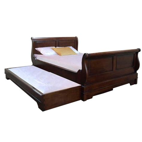 sleigh bed with pull out guest bed akd furniture
