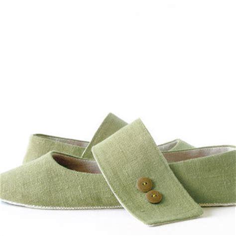 green ballet slippers zen olivine green ballet flats slippers from lalashoes on etsy