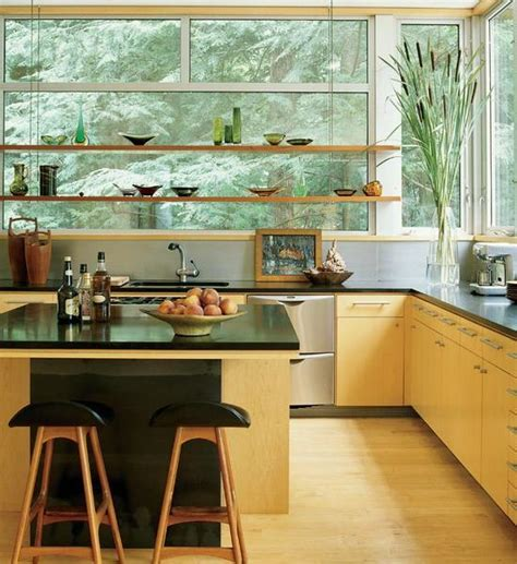 kitchen window decorating ideas open kitchen shelves and stationary window decorating ideas