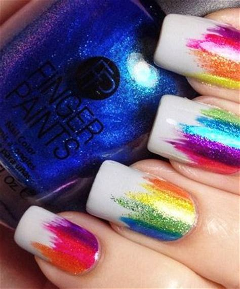 colorful nail 25 best ideas about colorful nail designs on