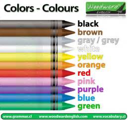 spelling of color gray colors colours