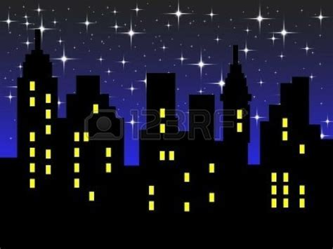 1887453 abstract city silhouette against night sky