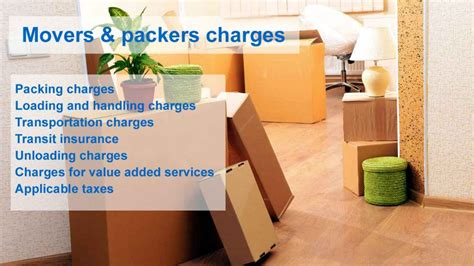 cost of movers packers and movers shifting cost all you must to