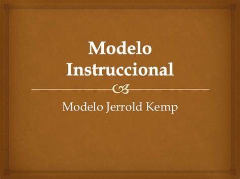 Modelo Curricular Jerrold Kemp Modelo Instruccional Kemp Comunidad