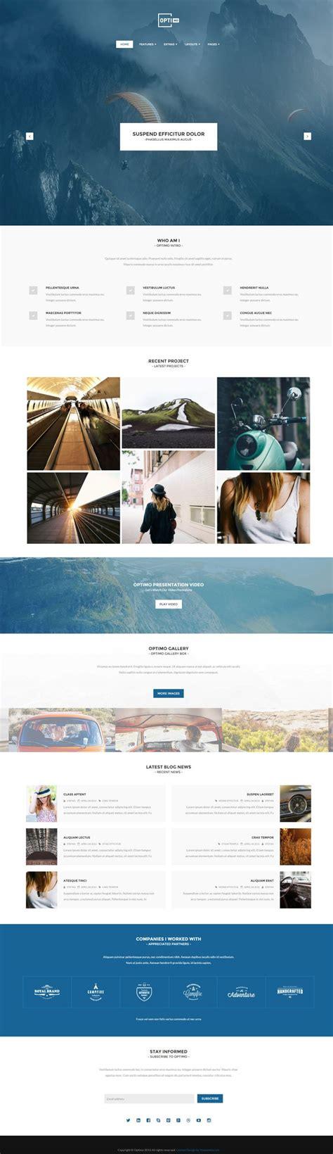 template joomla free portfolio optimo portfolio joomla template