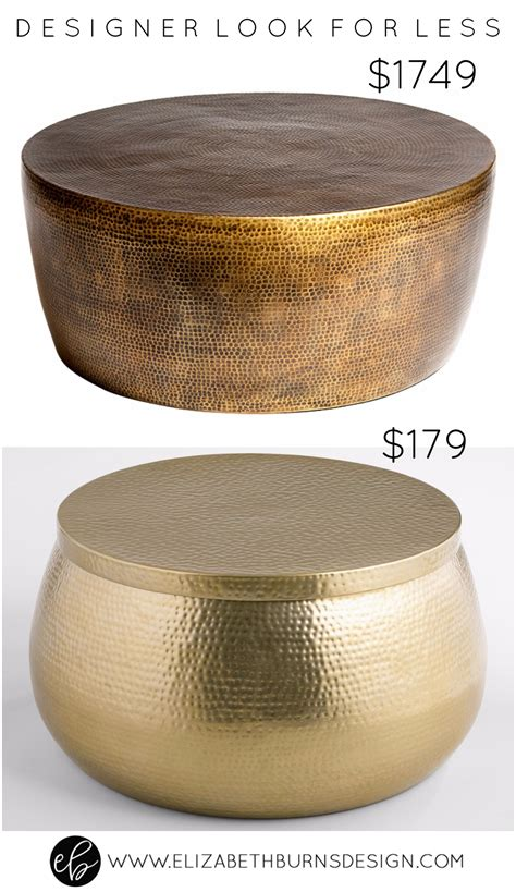 Hammered Coffee Table Designer Look For Less Gold Hammered Coffee Table Elizabeth Burns Design Raleigh Nc Interior