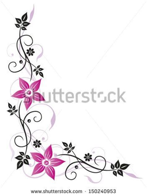 design flower school colorful border designs with flower free vector for free