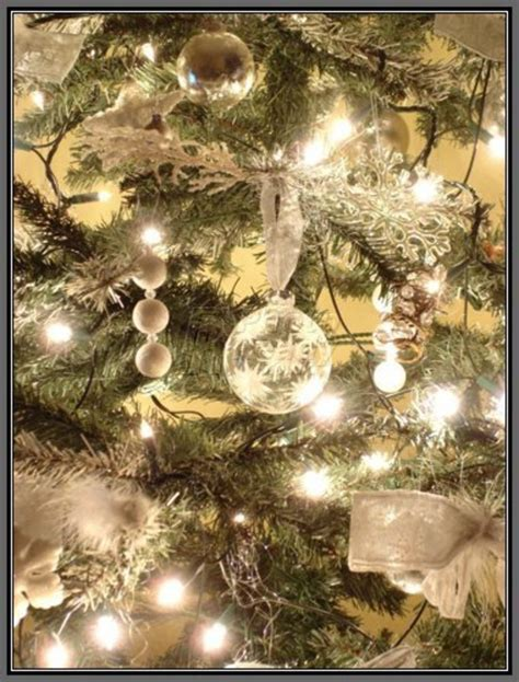 white silver decorating theme tree room decorating home designs design