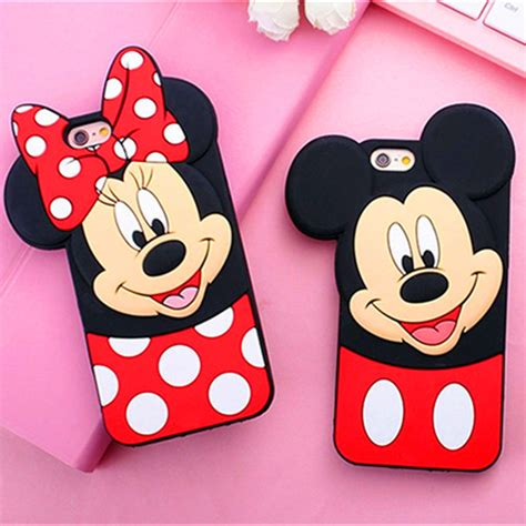 Cetakan Silicone Mickey Minnie aliexpress buy new 3d mickey minnie mouse soft silicone phone for iphone