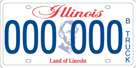 State Of Illinois Vanity Plates B Truck License Plates