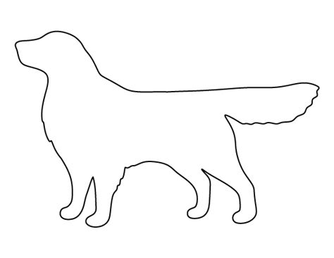 Golden Retriever Sitting Outline by Golden Retriever Pattern Use The Printable Outline For Crafts Creating Stencils Scrapbooking