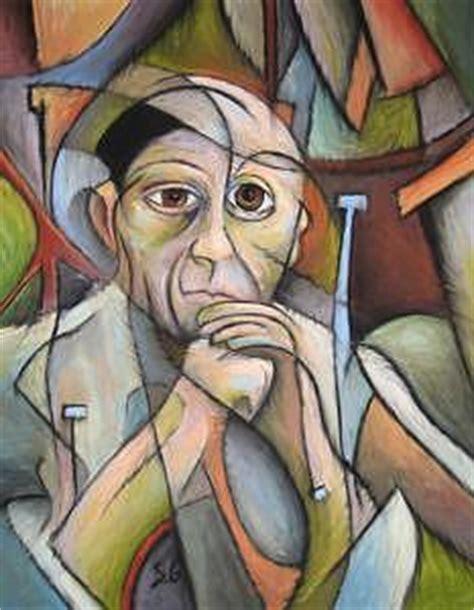 picasso self portrait cubism portrait of picasso by steve gribben