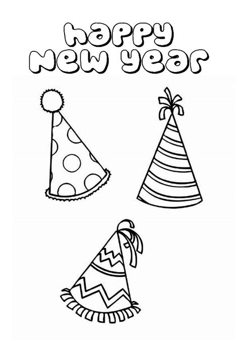 new year hat coloring pages plain hat new years coloring sheet coloring pages