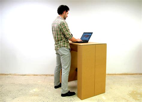 cardboard stand up desk the cardboard standing desk stand up for creativity by