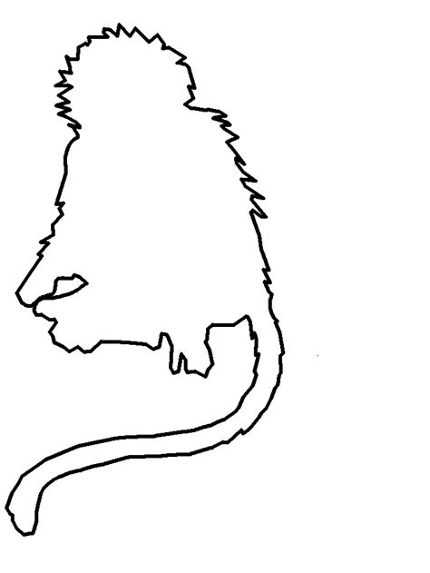 simple monkey coloring pages simple monkey outline clipart best